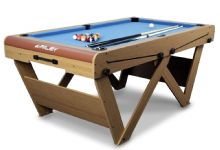 BCE RILEY FSPW-6 Folding 6' x 3' Pool Table.W Leg *Play straight out of the box*